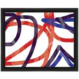 "Purple Swirl 22"" Wide Framed Abstract Wall Art"