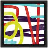"Fast Swirls 18"" Square Framed Abstract Wall Art"