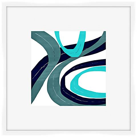 "Circles and Curves I 27"" Square Shadowbox Framed Wall Art"