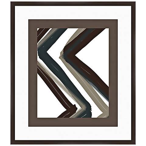 "Chevron Zoom I 32"" High Framed Abstract Wall Art"
