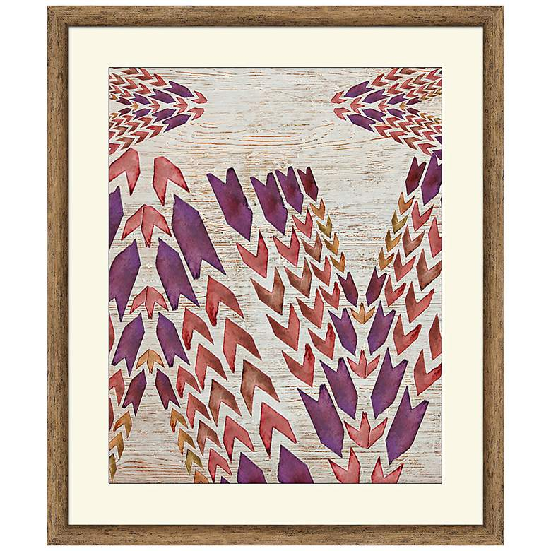 "Arrows 26"" High Framed Abstract Wall Art"