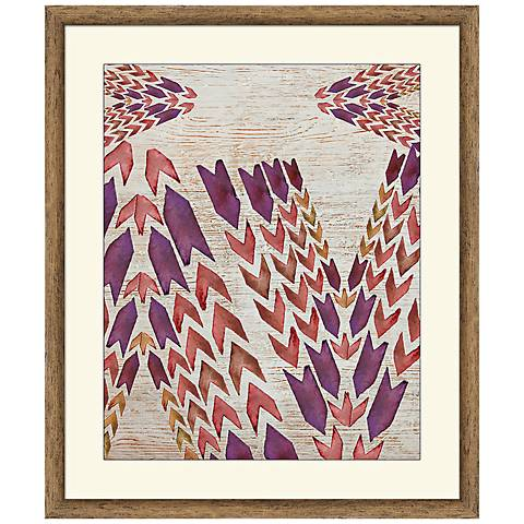 "Arrows 26"" High Framed Abstract Wall Art"