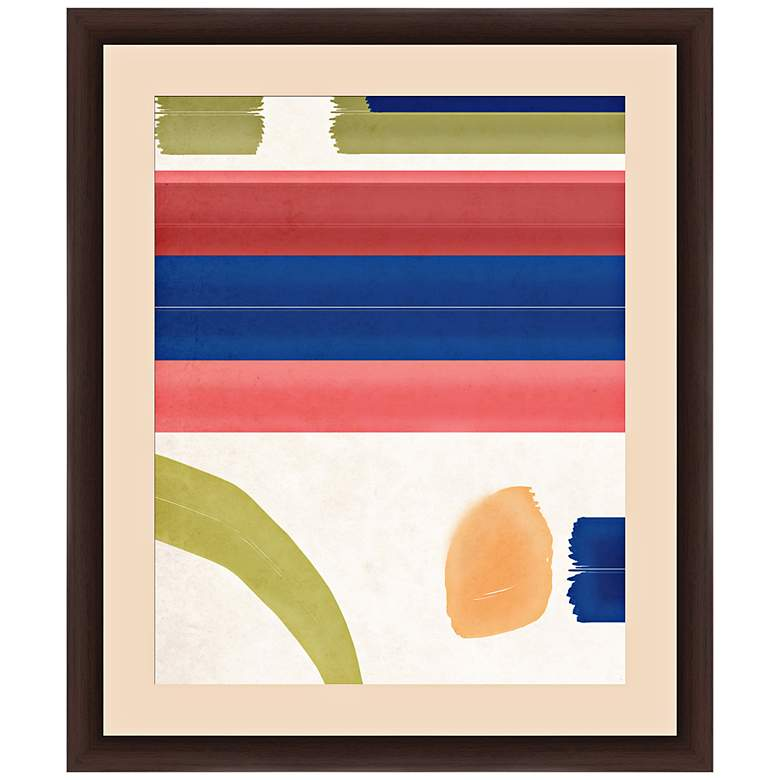 """Pattern Play Strokes I 26"""" High Framed Abstract"""