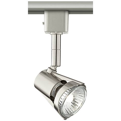 Brushed Steel GU10 50 Watt Halogen Track Light Head