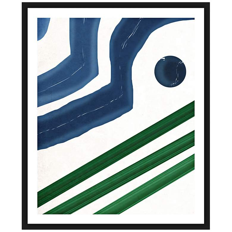 "Pattern Play Strokes II 26"" High Framed Abstract Wall Art"