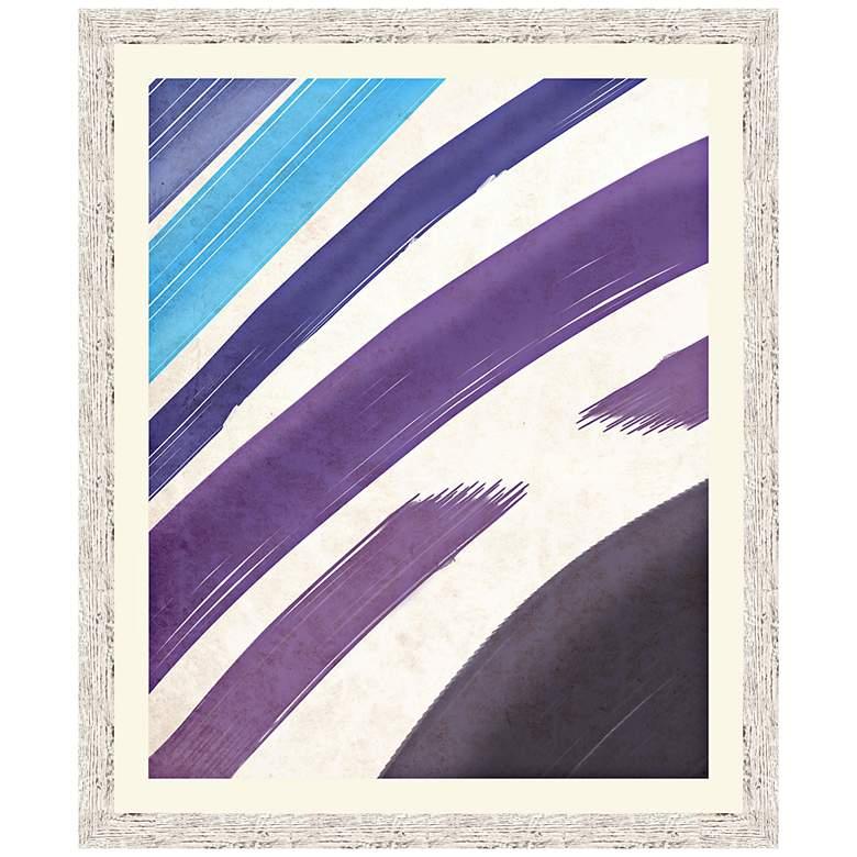"Pattern Play Strokes III 26"" High Framed Wall Art"