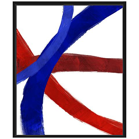 "Colorful Lines I 25 3/4"" High Framed Canvas Wall Art"