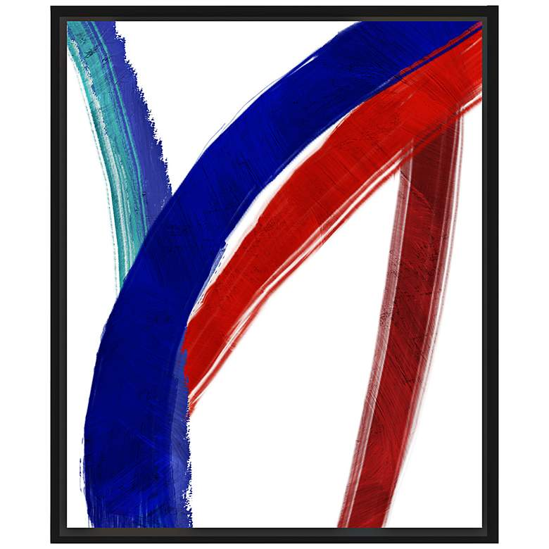 """Colorful Lines II 25 3/4"""" High Framed Canvas Wall Art"""