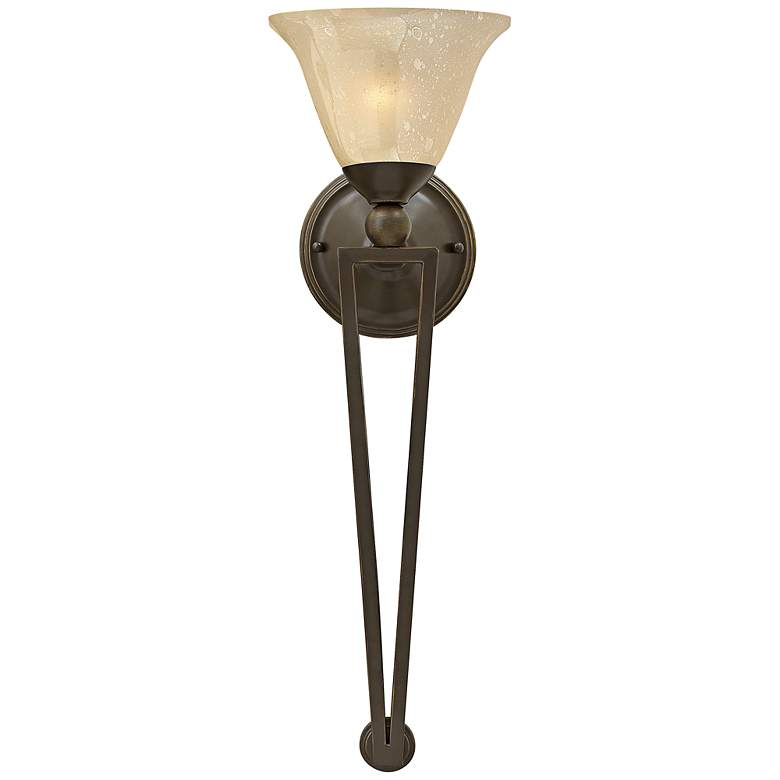 """Hinkley Bolla 26"""" High Olde Bronze Amber Wall Sconce"""