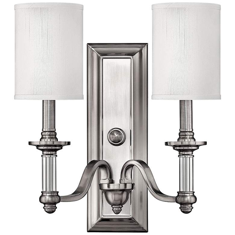"""Hinkley Sussex 15 3/4"""" High Brushed Nickel Wall Sconce"""