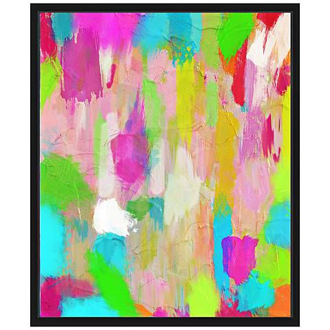 "Hot Pink Mess I 25 3/4"" High Framed Canvas Wall Art"