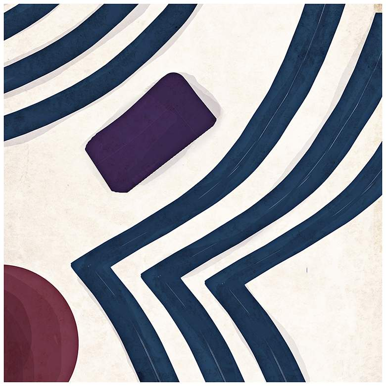 """Pattern Play Lines I 16"""" Square Canvas Wall Art"""