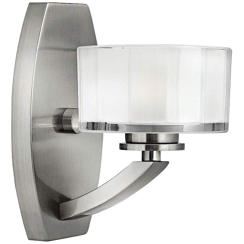"Hinkley Meridian 8"" High Brushed Nickel LED Wall Sconce"