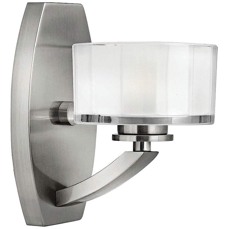 "Hinkley Meridian 8"" High Brushed Nickel LED Wall Sconce"