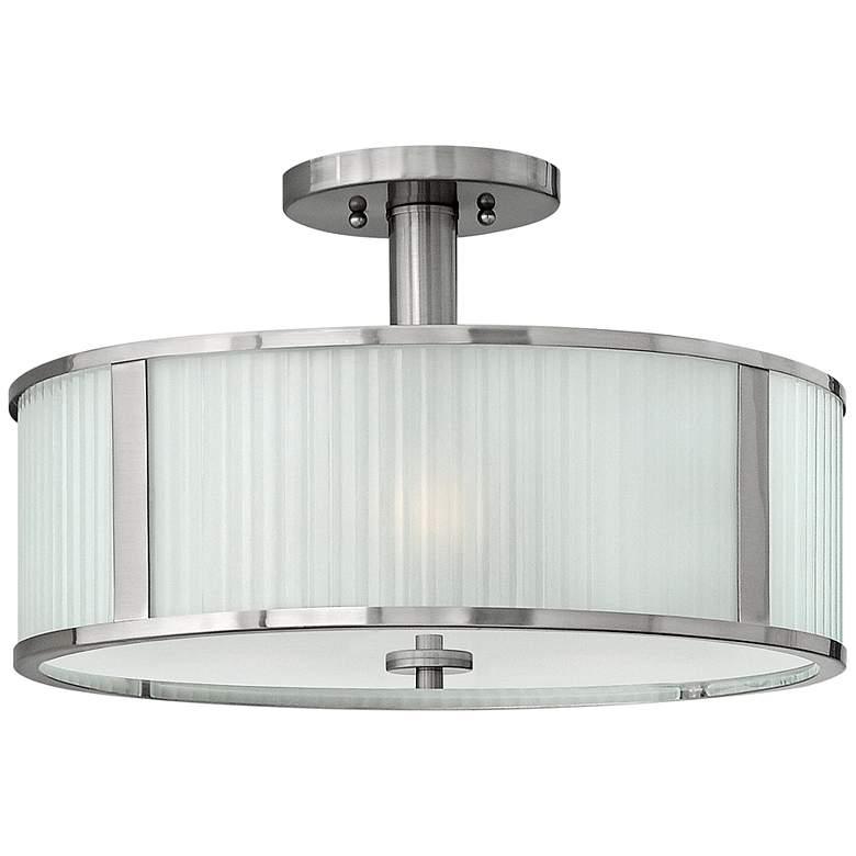 """Hinkley Midtown 18"""" Wide Brushed Nickel Ceiling Light"""