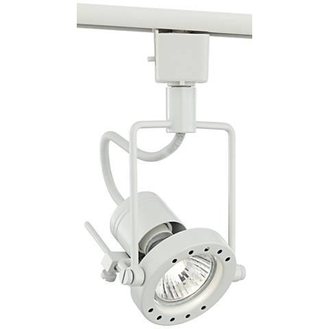 White Finish GU10 7-Watt LED European Style Track Light