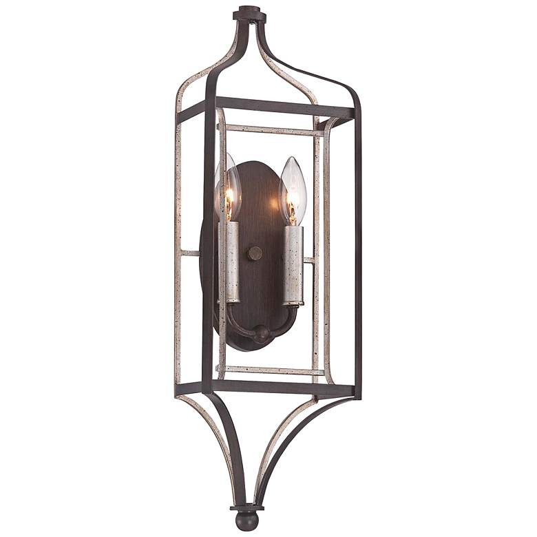 """Astrapia 22"""" High Dark Rubbed Sienna 2-Light Wall Sconce"""