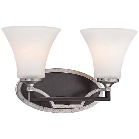 "Astrapia 14 1/4""W Dark Rubbed Sienna 2-Light Bath Light"