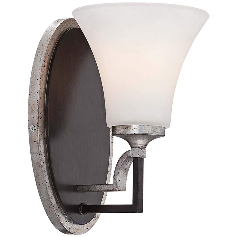 "Astrapia 10"" High Dark Rubbed Sienna Wall Sconce"