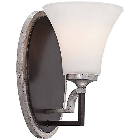 """Astrapia 10"""" High Dark Rubbed Sienna Wall Sconce"""