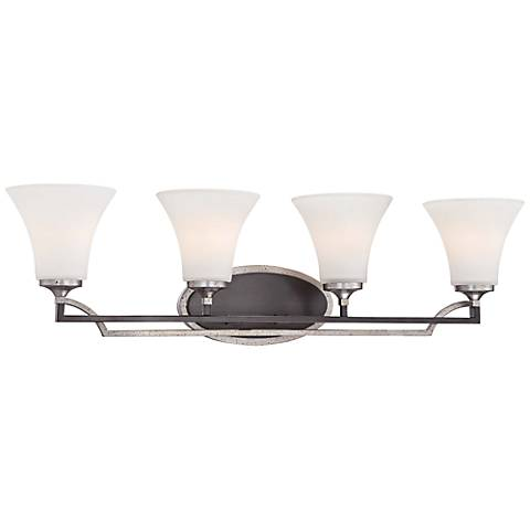 "Astrapia 31 1/2"" Wide Dark Rubbed Sienna 4-Light Bath Light"