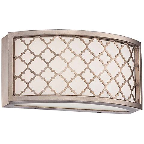 "Westwood Court 10"" Wide Champagne Gold LED Bath Light"