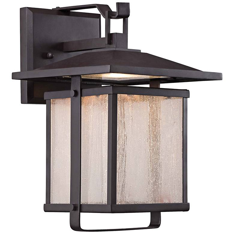 "Hillsdale 8"" High Dorian Bronze LED Outdoor Wall Light"