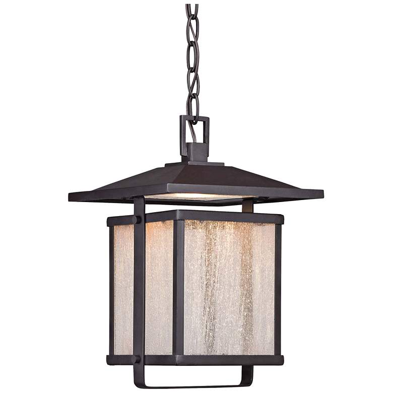 "Hillsdale 12 3/4""H Dorian Bronze LED Outdoor Hanging"