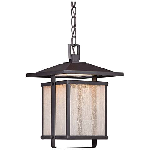 "Hillsdale 12 3/4""H Dorian Bronze LED Outdoor Hanging Light"