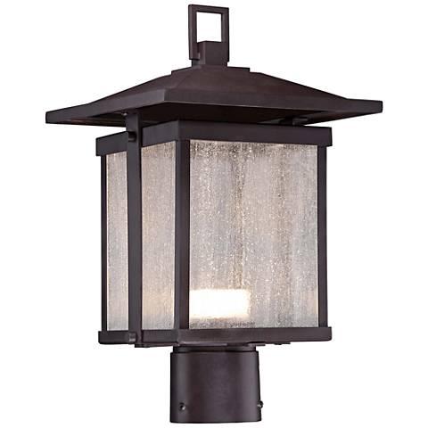 "Hillsdale 14 1/2""H Dorian Bronze LED Outdoor Post Light"