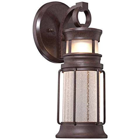 "Garretson Pointe LED 14 1/2""H 2-Glass Outdoor Wall Light"