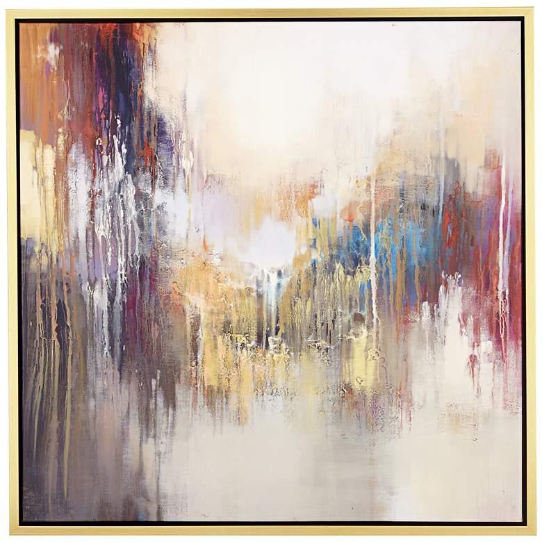 "Kinetic Energy 43"" Square Framed Giclee Wall Art"