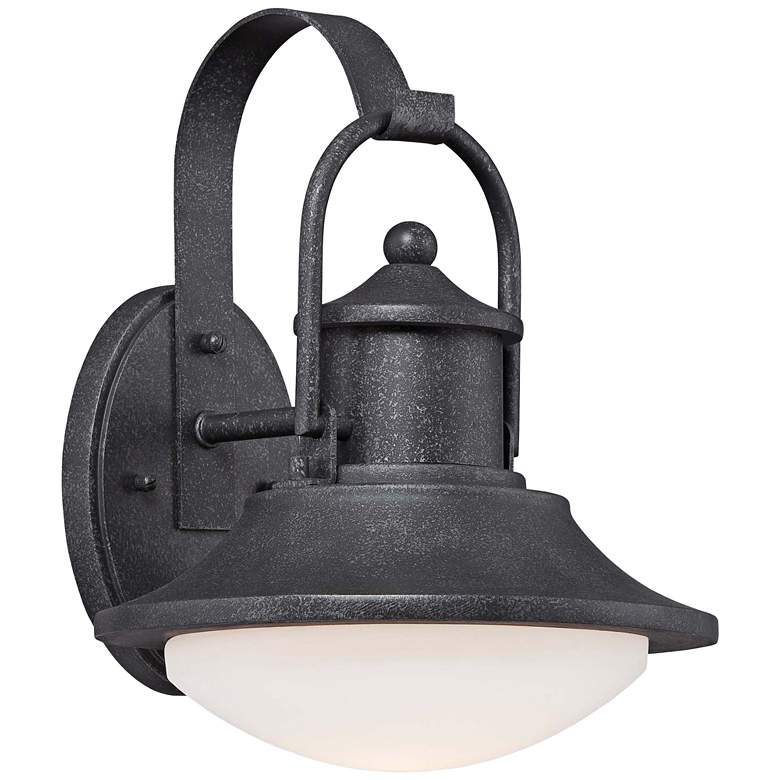 """Crest Ridge 12 3/4"""" Wide Silver LED Outdoor Hanging Light"""