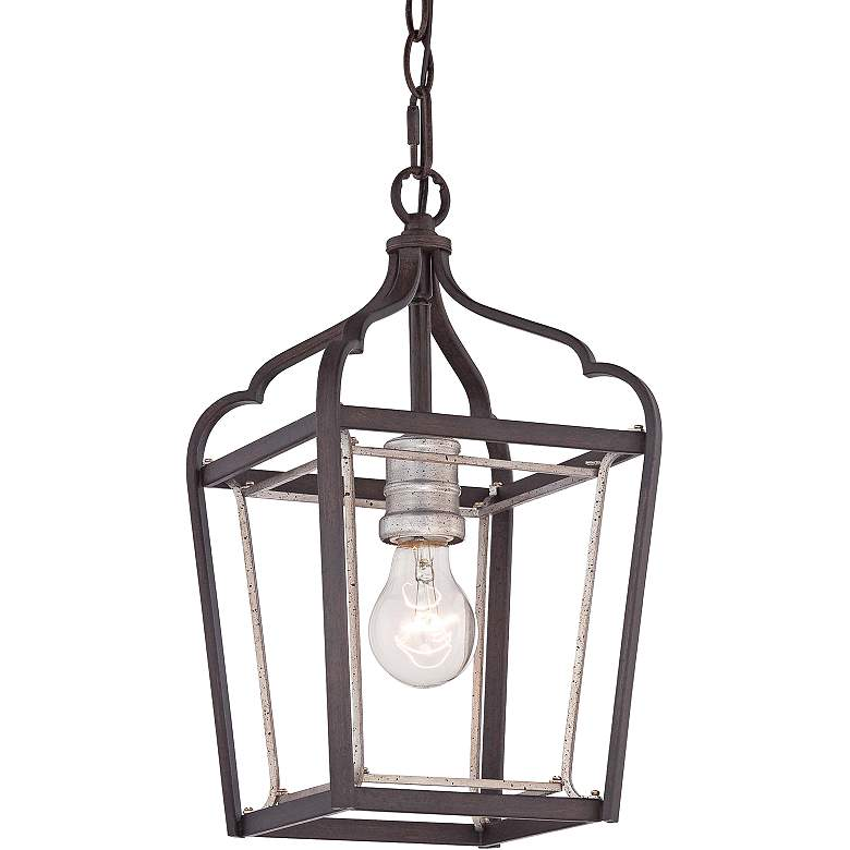 "Astrapia 7 3/4"" Wide Rubbed Sienna 1-Light Mini Pendant"