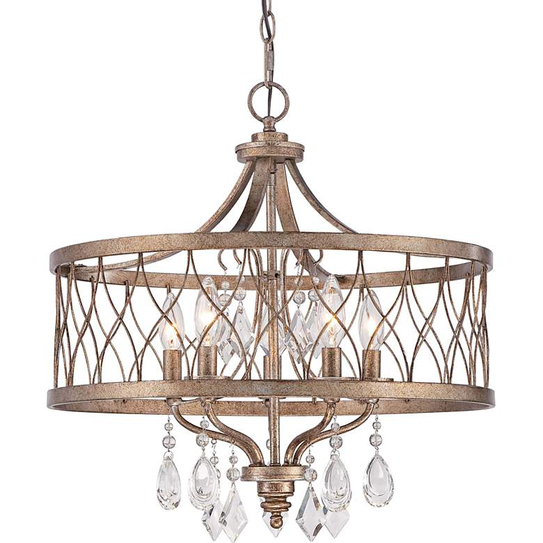 """West Liberty 20 1/2"""" Wide Olympus Gold 5-Light Chandelier"""