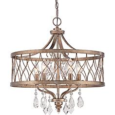 "West Liberty 20 1/2"" Wide Olympus Gold 5-Light Chandelier"
