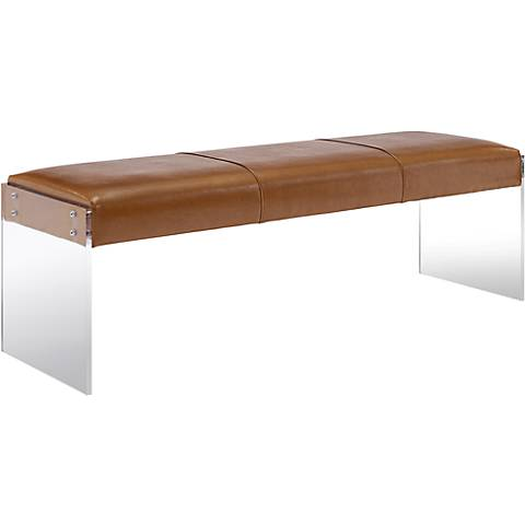 Envy Acrylic and Brown Bonded Leather Bench