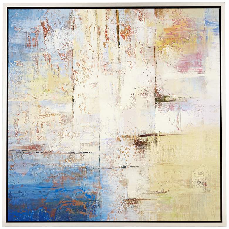 """City Squared 43"""" Square Framed Giclee Wall Art"""