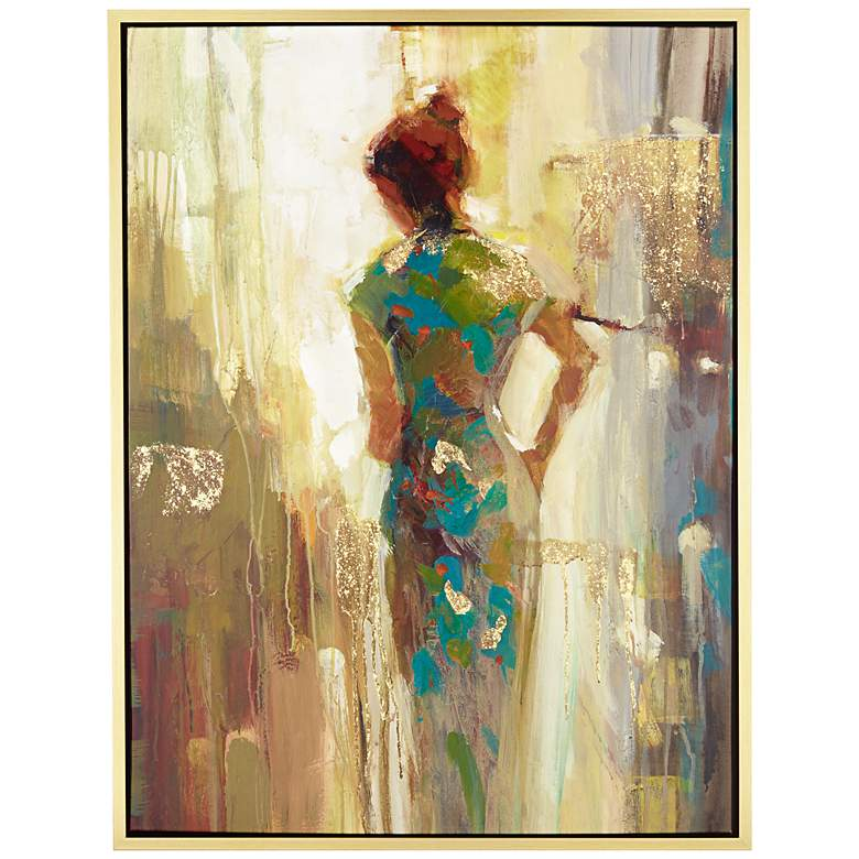 "It's Her Time Now 51"" High Framed Giclee Wall Art"