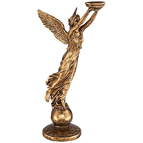 "Golden Angel 48 1/2"" High Statue"