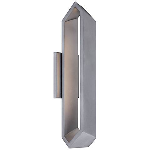 "George Kovacs Pitch Sand 18 1/2""H LED Outdoor Wall Light"