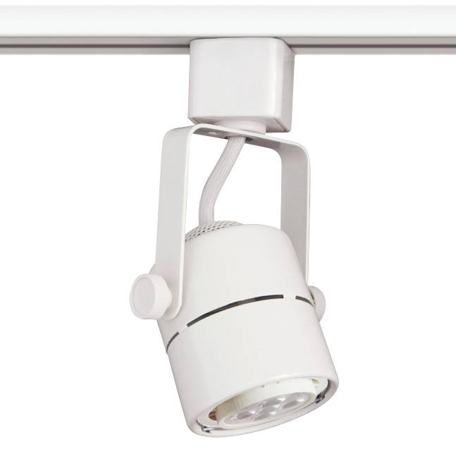 White 7 watt led track head for halo single circuit system