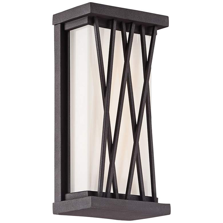 """George Kovacs Hedge 10""""H LED Bronze Outdoor Wall"""