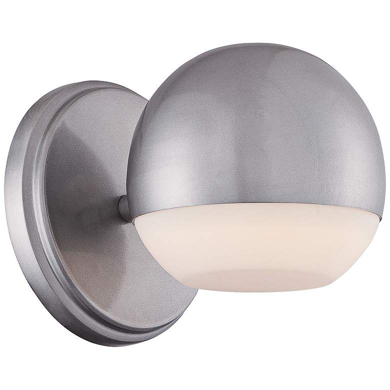 "George Kovacs Droplet 5""H LED Silver Outdoor Wall Light"