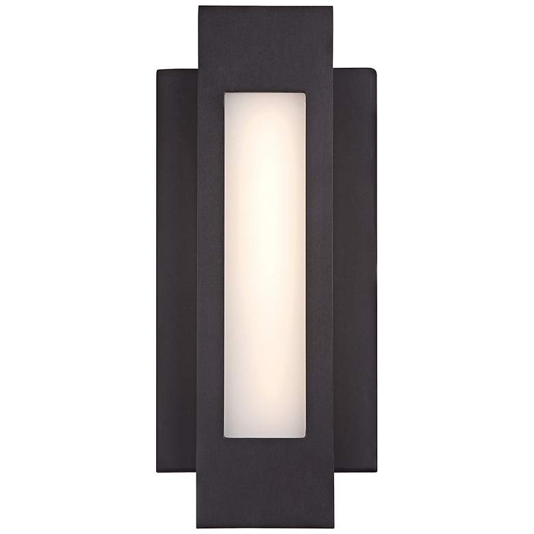 """George Kovacs Insert 12""""H LED Bronze Outdoor Wall"""