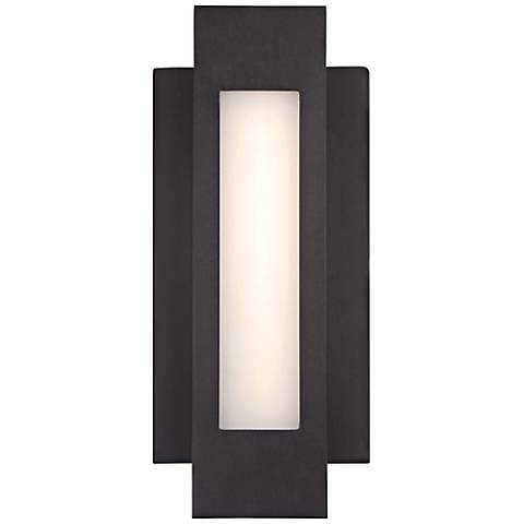 "George Kovacs Insert 12""H LED Bronze Outdoor Wall Light"