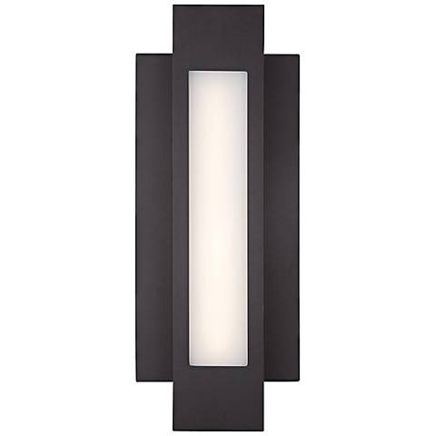 "George Kovacs Insert 16 1/2"" High LED Outdoor Wall Light"