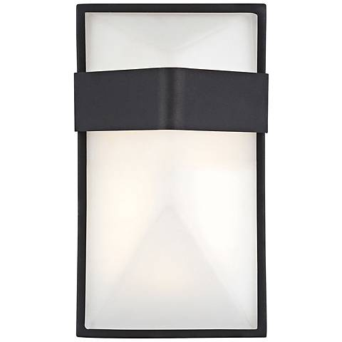 "George Kovacs Wedge 9"" High LED Black Outdoor Wall Light"