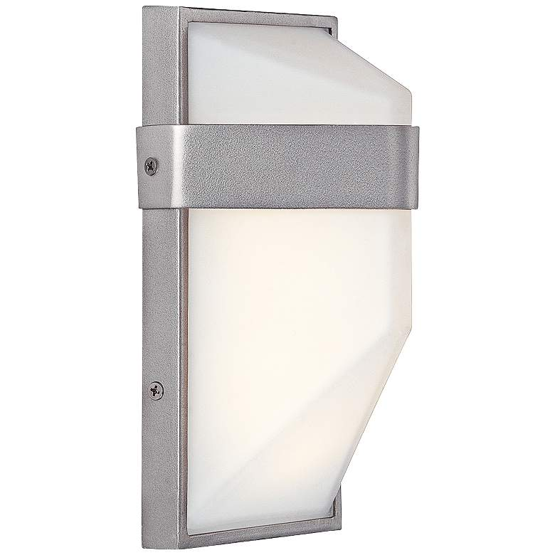 "George Kovacs Wedge 9""H Silver Dust LED Outdoor Wall Light"
