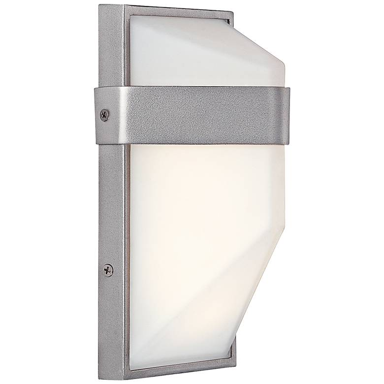 """George Kovacs Wedge 9""""H Silver Dust LED Outdoor Wall Light"""